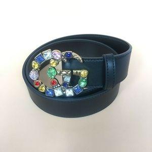 Gucci women's belt colorful pearl